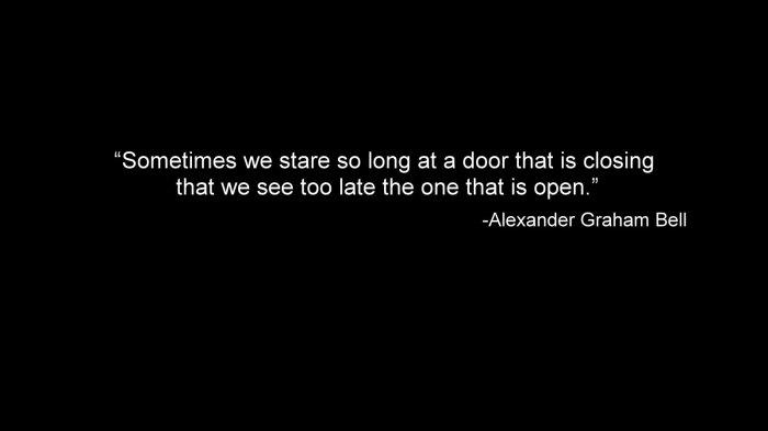 alexander graham bell talks about doors