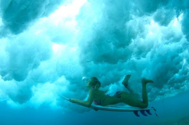 under the surf