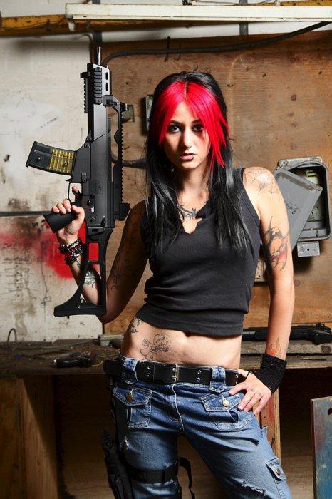 sexy assualt weapon woman