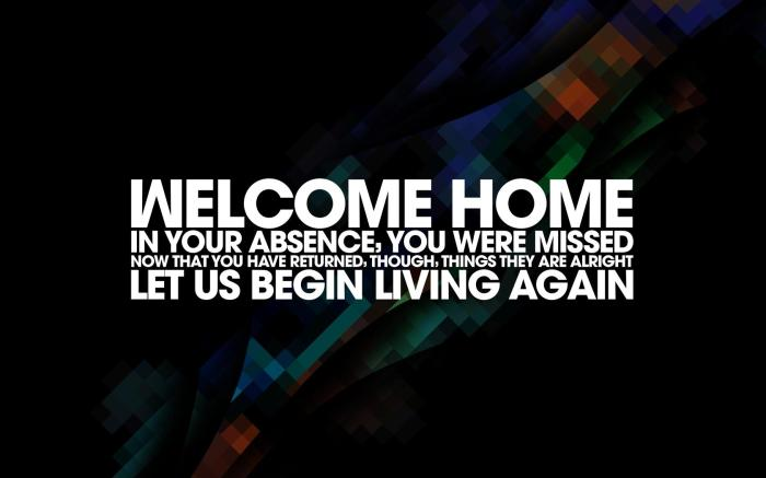 in your absence, you were missed