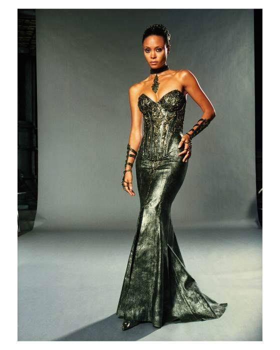 Thandie Newton in a slinky dress