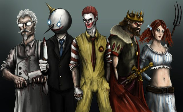 scary food mascots