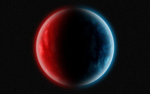 red blue planet
