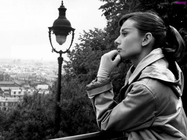 Audrey Hepburn is in thought