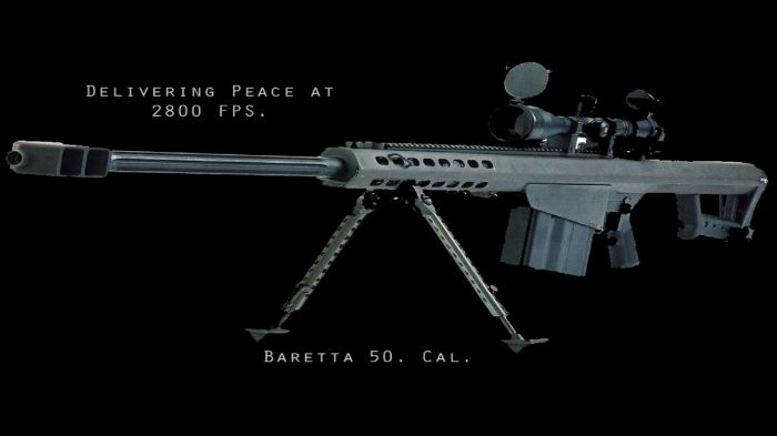 baretta 50 cal - delivering peace at 2800 FPS