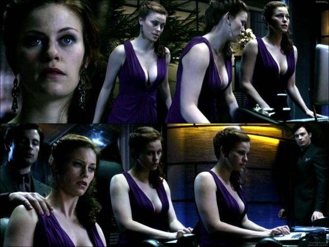 Cassidy Freeman - Smallville - purple dress