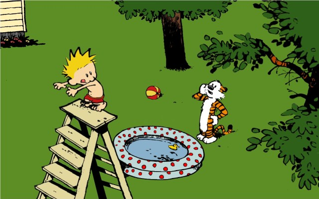Calvin and Hobbes - Diving