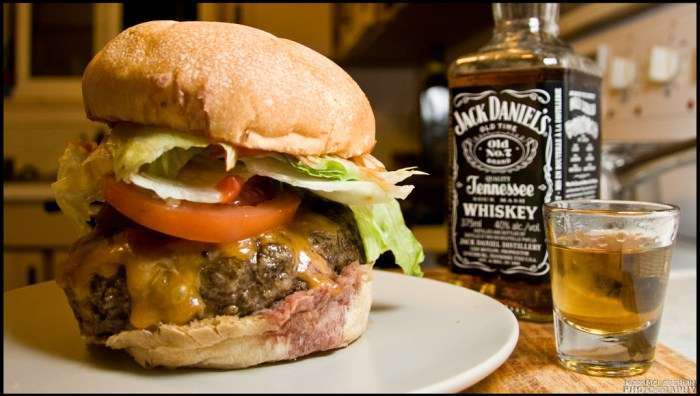jack daniels and burger