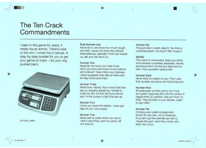 ten crack commandments