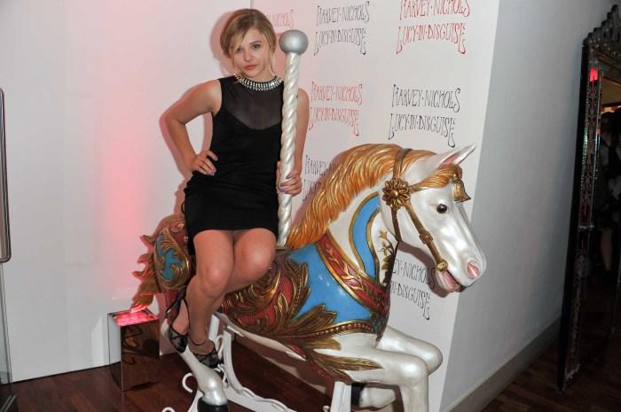 cloe moretz on a pony