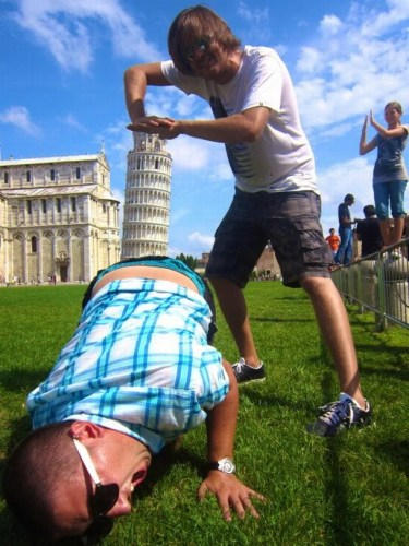 leaning tower insertion