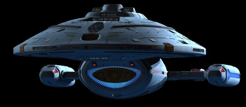 USS voyager in high detail