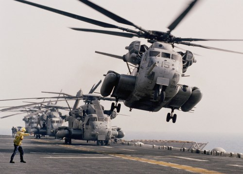 aircraft carrier helicoptor take offf
