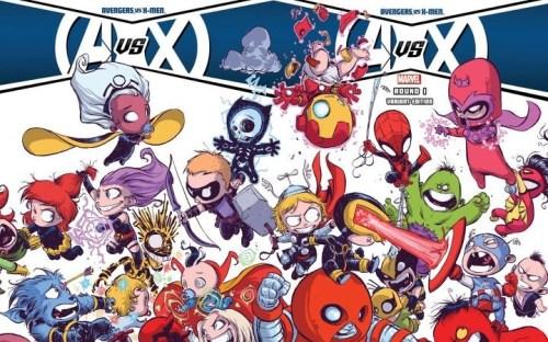chibi avengers vs x-men