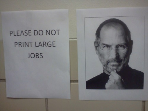 please do not print large jobs