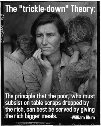 the trickle-down theory