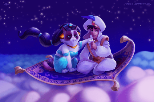 grumpy cat with aladdin.png