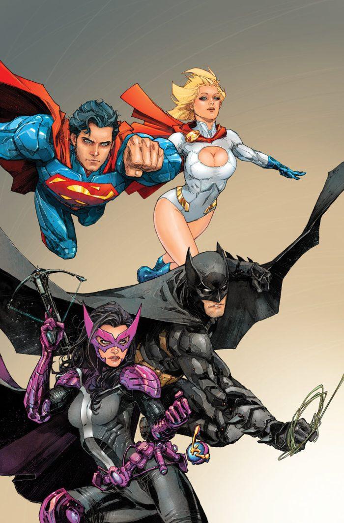 Batman, Superman, Powergirl, Huntress.jpg