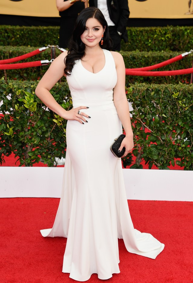 Ariel Winter in white dress looking forward.jpg