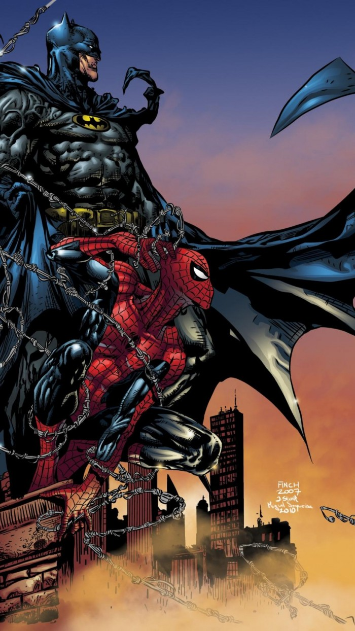Spider-man and Batman Sitting in a Tree | ComicCovers Batman Comic Cover Wallpaper