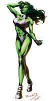 She Hulk in a bikini taking a walk.jpg