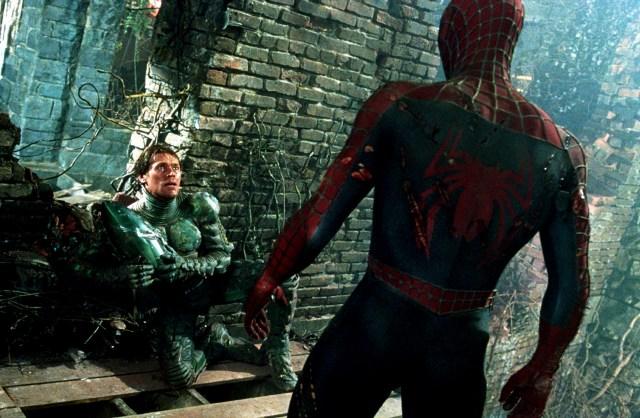 Spider-man vs the unmasked Green Goblin.jpg