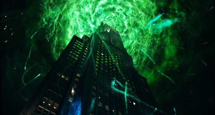 The New Ghostbusters blowing up a green building.jpg