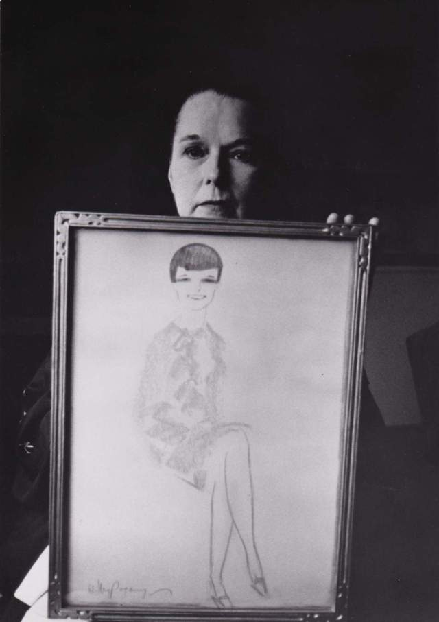Louise Brooks in 1965 - Photograph by Roddy McDowall