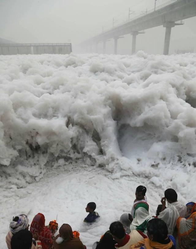 Toxic Foam in Yamuna River + Smog in the Sky.jpg