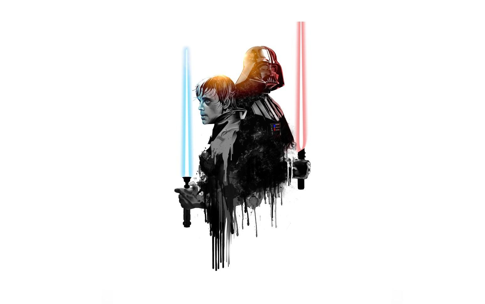Luke and Vader Splatter