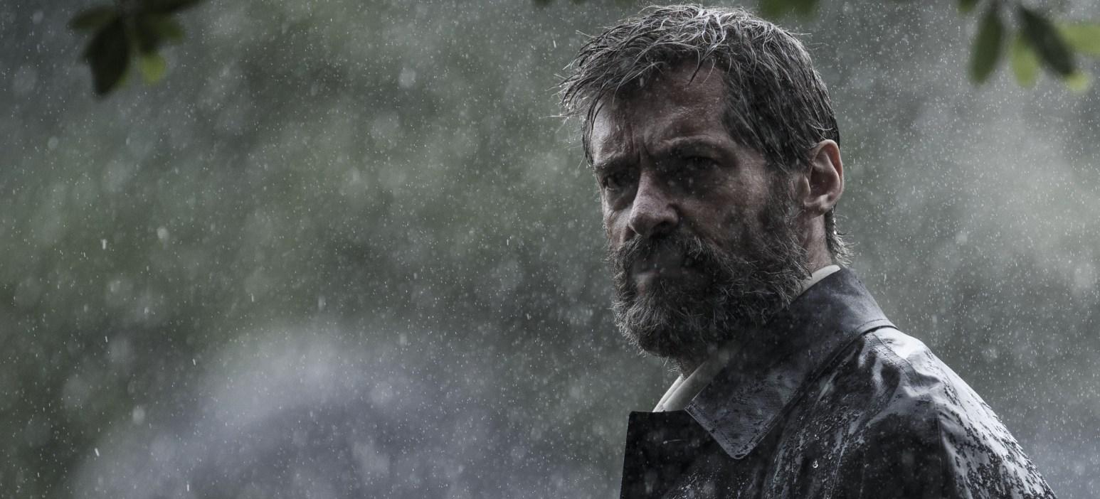 Logan in the rain