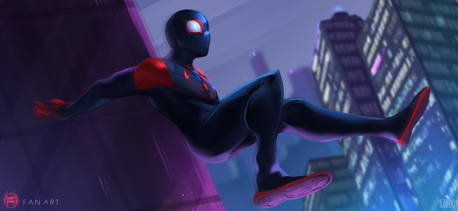 spiderman into the spider verse 2018 fan art kf