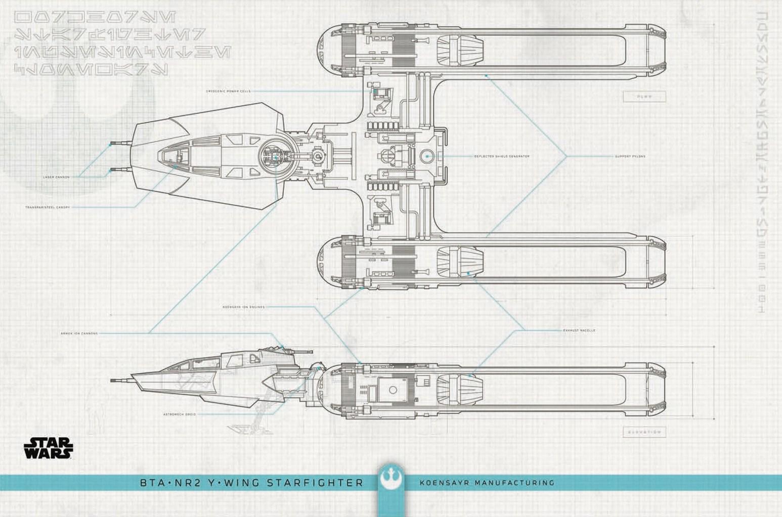 Y-Wing Blueprints