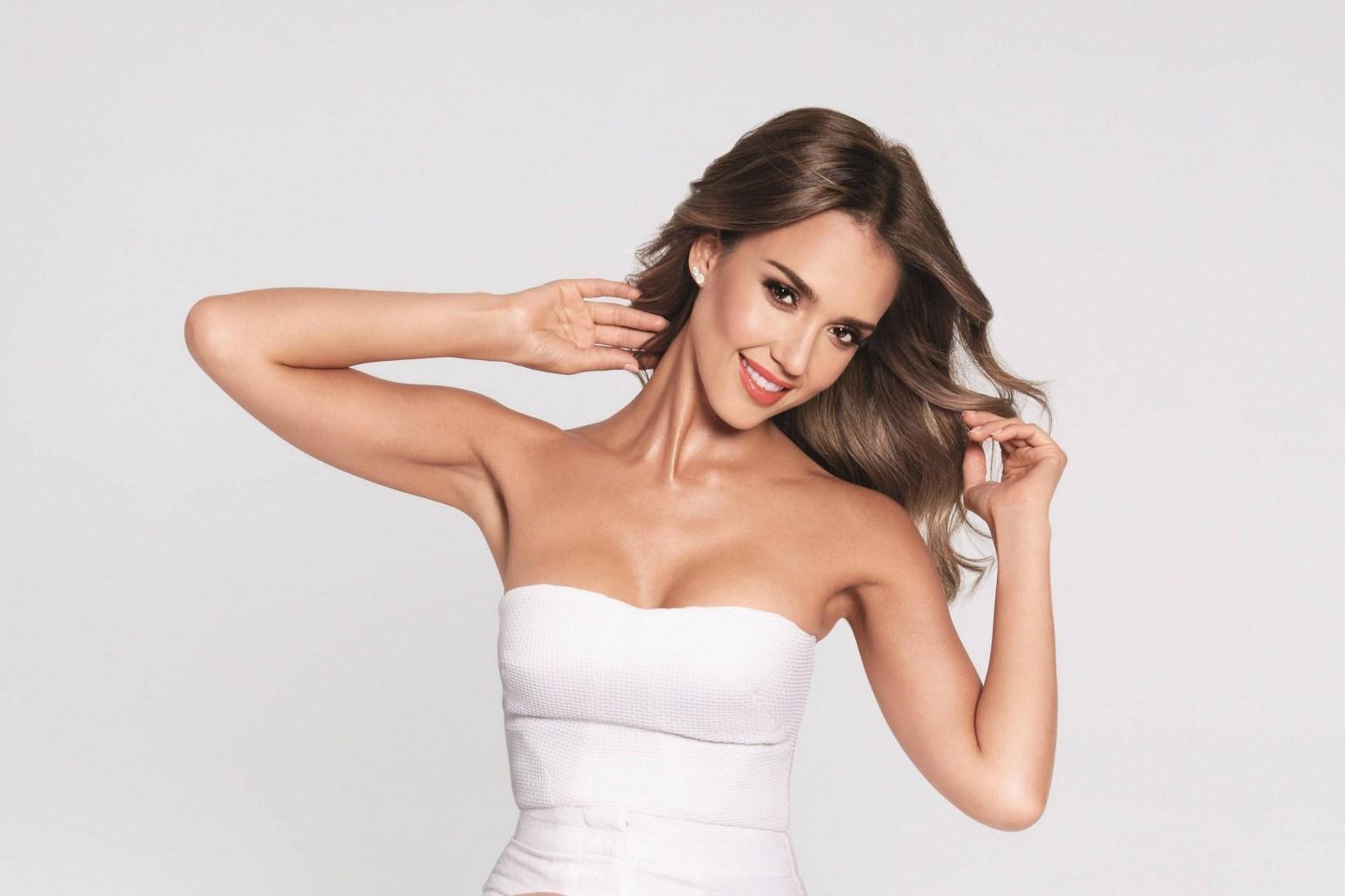 Jessica Alba in white