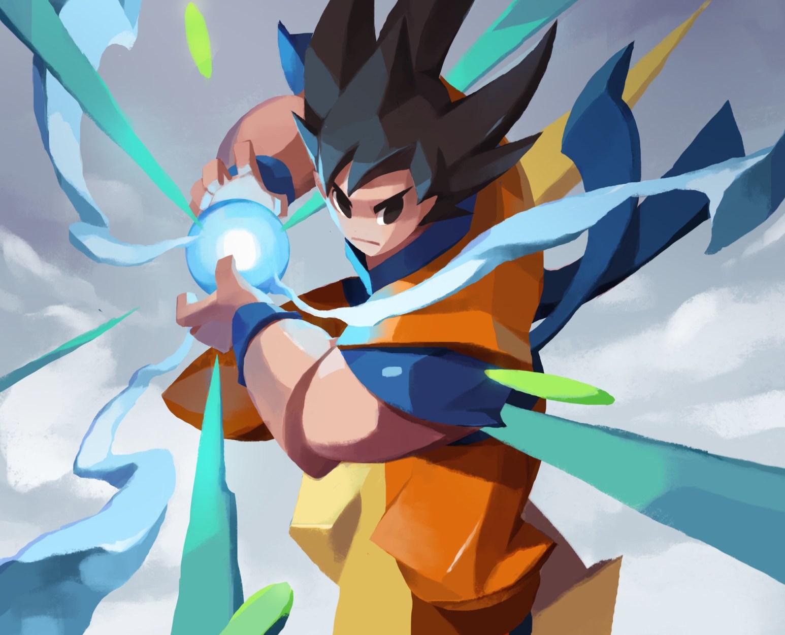 Goku charging up