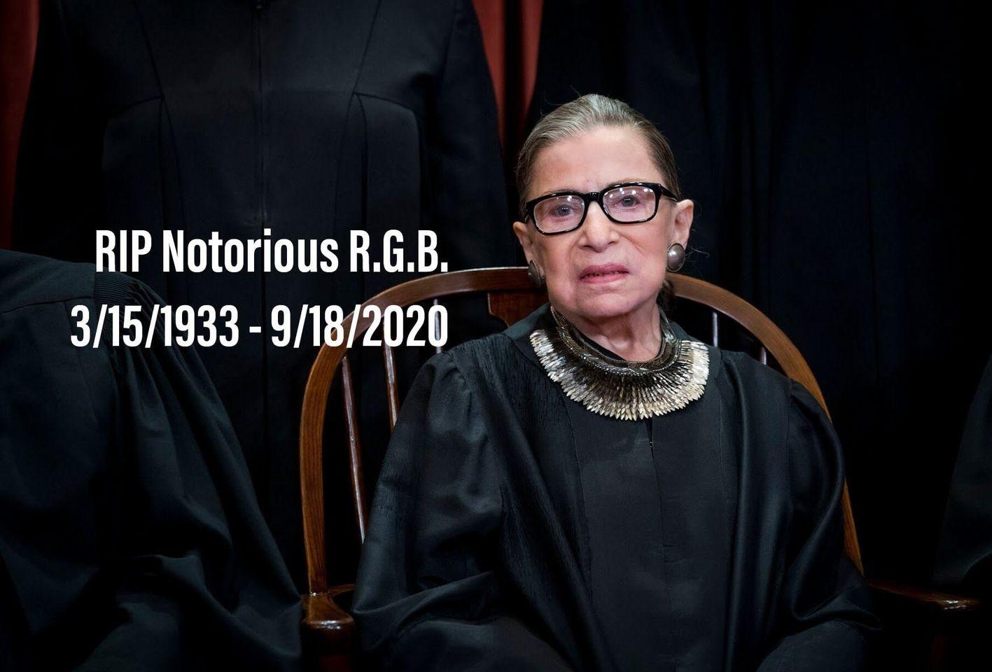 RIP NOTORIOUS RBG