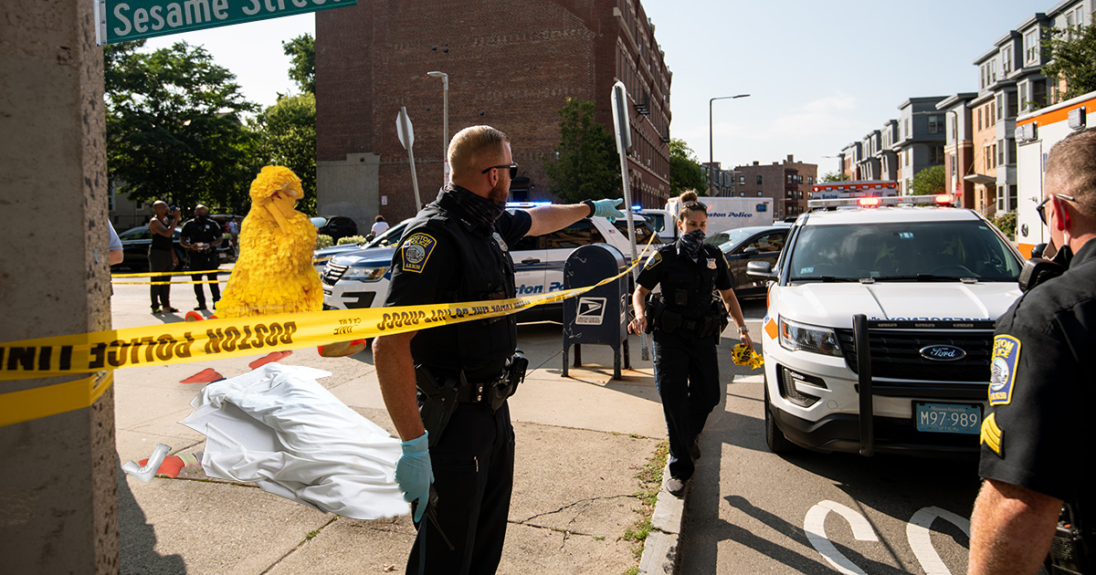 Sesame Street Police Shoot New Black Muppet After Mistaking the Number 7 for Firearm