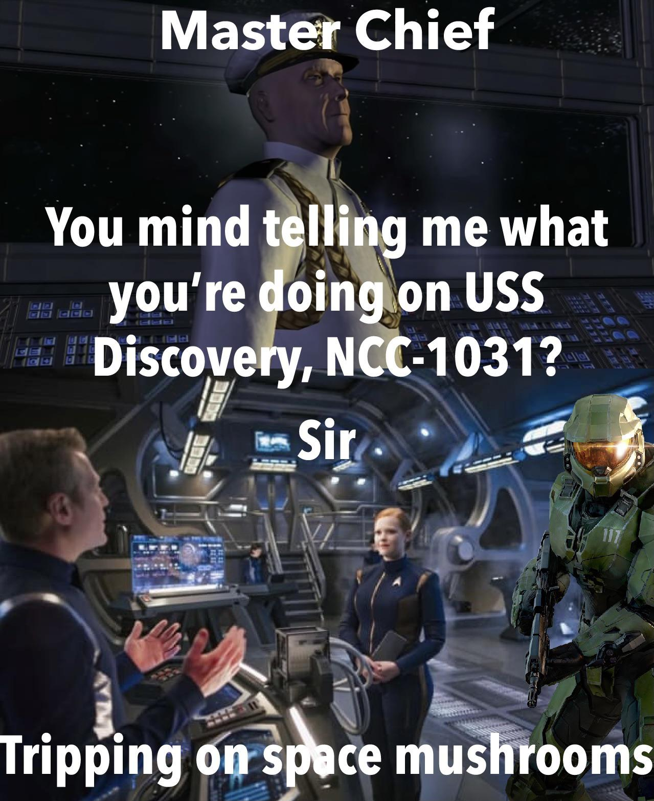 Putting Master Chief from Halo on Star Trek ships in chronological order Day 2 I already missed a day lol