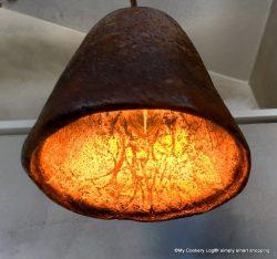 Lampe aus Kaffeesatz ökoRausch-Festival