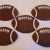 Chocolate Football Cookies