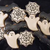 Halloween Cookies - Bats, Ghosts & Webs