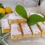 Хрупкави лимонови десертни блокчета (Lemon bars)