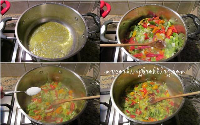 Канелони (canenelloni) с кайма, цветни чушки и бешамел