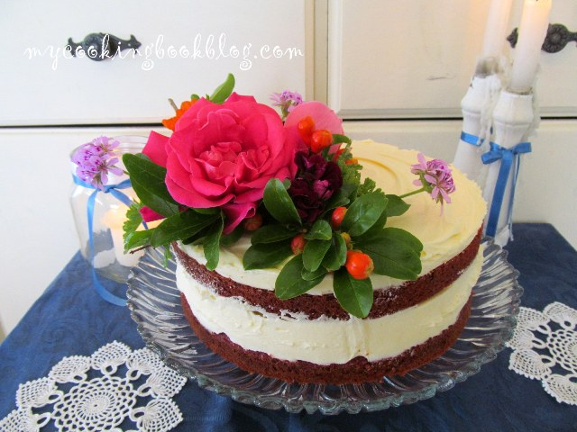 Торта червено кадифе с олио (Southern Red Velvet Cake)