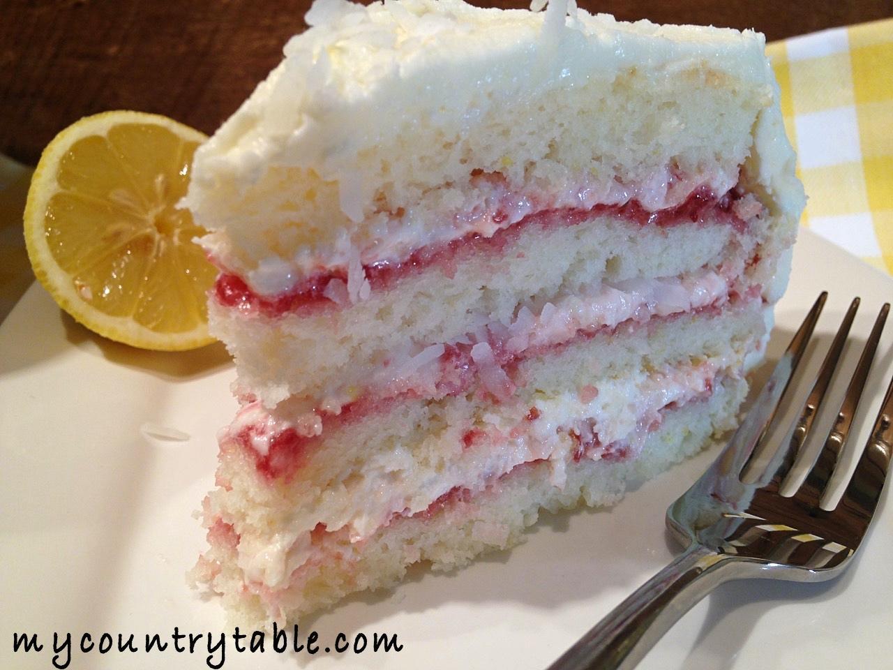 Lemon Cake Recipes On Pinterest: Coconut Raspberry Lemon Cake