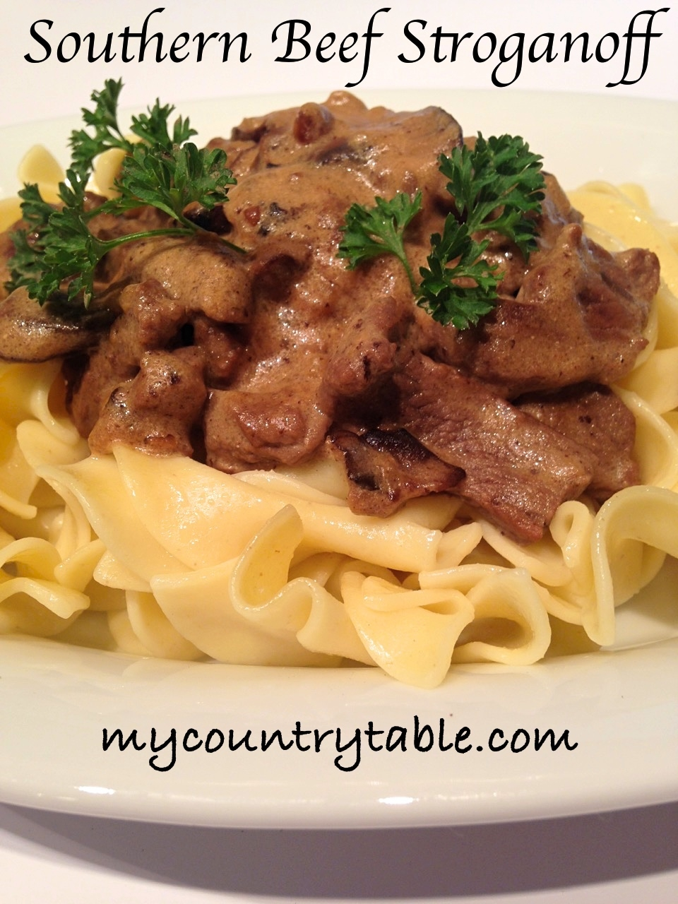 Southern Beef Stroganoff