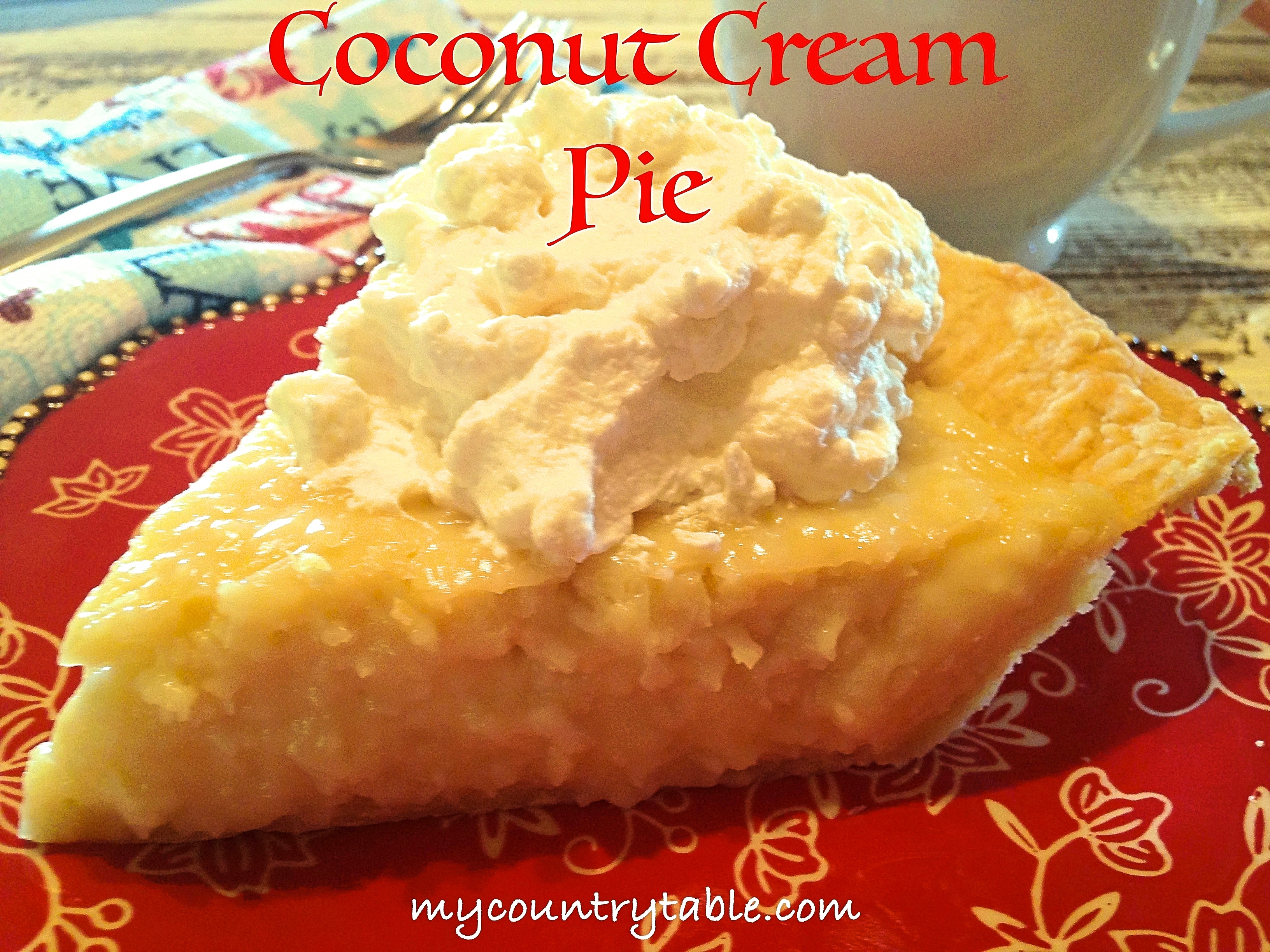 National Coconut Cream Pie Day!!!