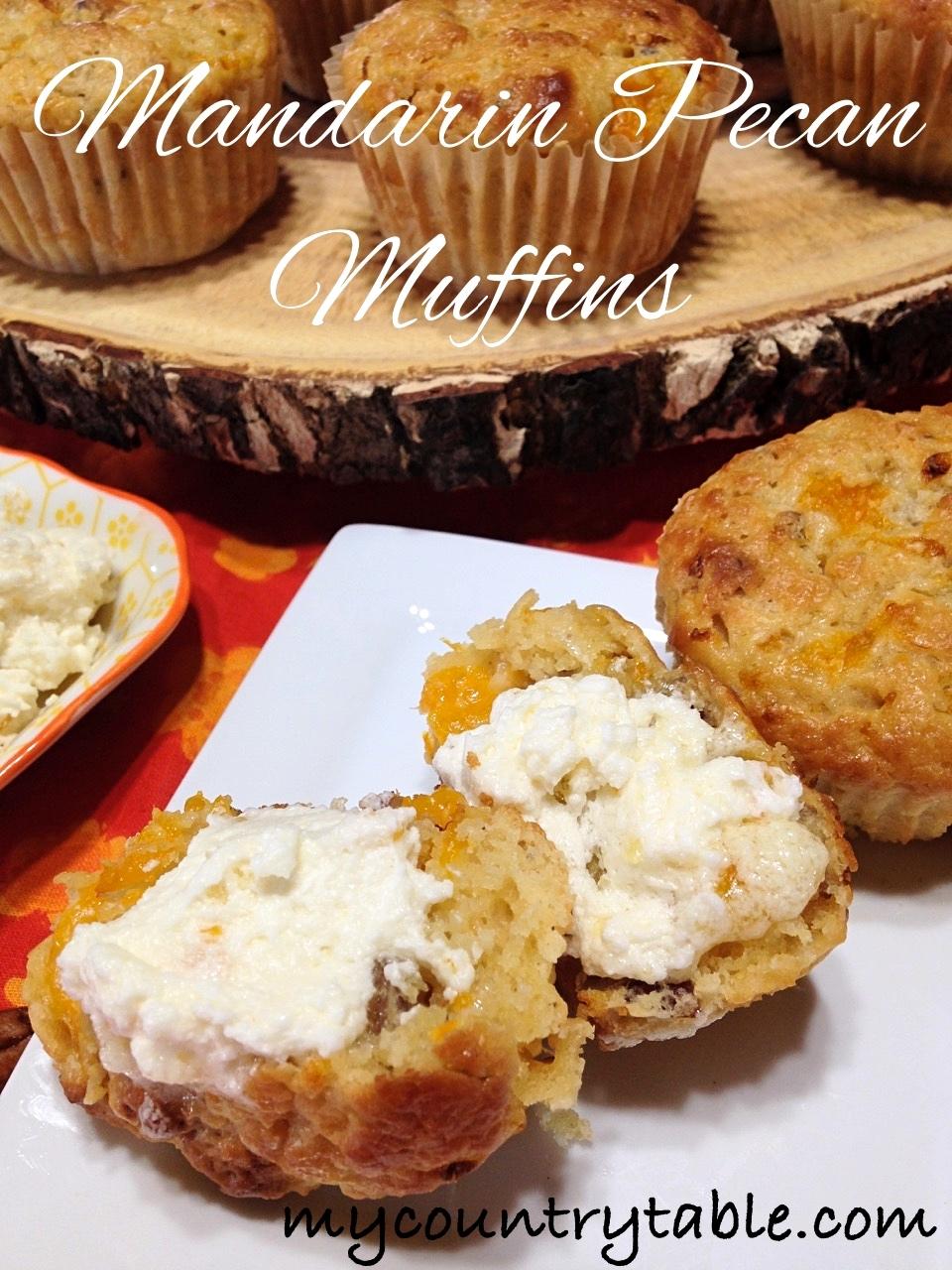 Mandarin Pecan Muffins