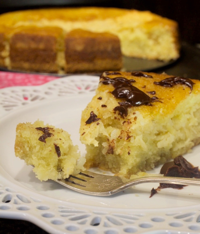 Coconut Crunch Cake with Chocolate Ganache My Country Table