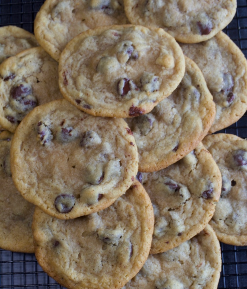 Thin & Chewy Chocolate Chip Cookies